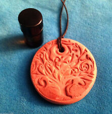 HEALING Terracotta Clay Diffuser  AROMATHERAPY PENDANT with Essential Oil Blend