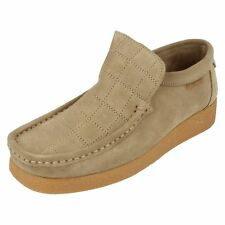 Boys ZEBRA Suede Leather slip on shoes By Ben Sherman Retail £9.99