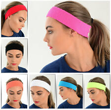New Headbands Wristbands One Size Stretchy Many Colours Exercise Fancy Dress