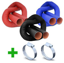 Flexible Air Ducting + Hose Clips - Silicone Coated Hot Cold Duct Induction ASH