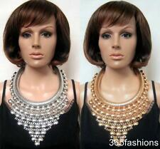STATEMENT CHUNKY OVERSIZED GLAM EGYPTIAN ROMAN STYLE BIB FRONT NECKLACE