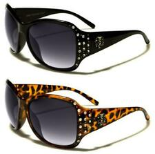 NEW DESIGNER KLEO SUNGLASSES DIAMANTE LADIES WOMENS GIRLS LARGE BLACK WRAP UV400