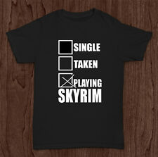 SINGLE TAKEN SKYRIM FunnyT-Shirt Top Geek Nerd Cool Fun Retro All Sizes #21
