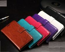 iPhone 5/5S SE 5C 6 Leather Stand Wallet Flip Phone Case Cover & Tempered Glass