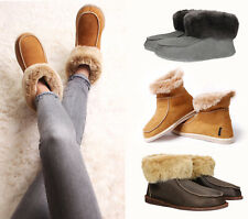 ❤️ Hand crafted Luxury Mens Womens Sheepskin Moccasin Slippers 100% Real Fur