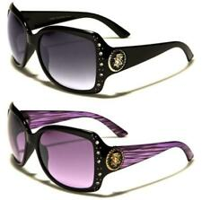 NEW DESIGNER SUNGLASSES KLEO DIAMANTE LADIES WOMENS GIRLS LARGE BLACK WRAP UV400