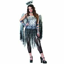 Ladies Black Dark Angel Fairy Adult Sexy Halloween Fancy Dress Costume Outfit