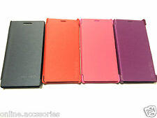 DIARY FLIP FLAP FOLIO COVER BACK CASE FOR SONY XPERIA M2 + SCREEN GUARD