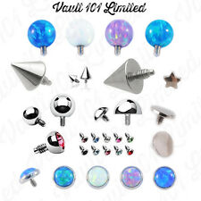 Dermal Anchor Top - Micro Dermal Head Surface Piercing Balls, Cones, Domes, Gems