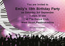 Personalised Birthday Party Invitations All Ages 16th 18th 21st 30th 40th 50th