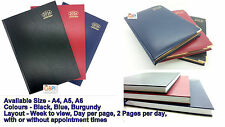 2017 Diary A4 A5 A6 Size Week to view Day a Page Appointments 2 Pages a Day