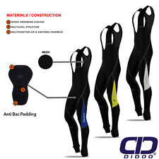 Mens Cycling Bib Tights Thermal Padded Cold Wear Legging Winter Bike Long Pant