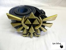 AWESOME NINTENDO'S THE LEGEND OF ZELDA GOLD TRIFORCE CREST BUCKLE WITH BELT *NEW