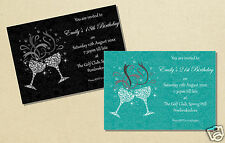 Personalised Birthday Party Invitations All Colours 18th 21st 30th 40th 50th
