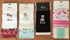 Harrods Tea Towel Double Pack -Asst Cats - Westie's -Bull Dog - Asst Dogs BNWT