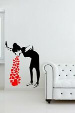 Banksy Love Sick - Iconic Graffiti Wall Stickers Decals. Many colours. New! UK