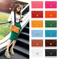 Ladies Pu Leather Envelope Clutch Chain Purse Handbag Tote Shoulder Hand Bag
