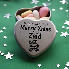 Merry Xmas Zaid Mini Heart Tin Gift Present Happy Christmas Stocking Filler