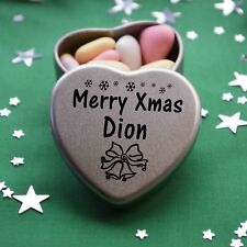Merry Xmas Dion Mini Heart Tin Gift Present Happy Christmas Stocking Filler