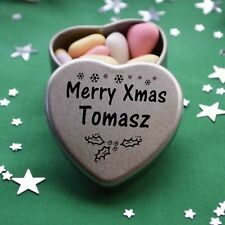 Merry Xmas Tomasz Mini Heart Tin Gift Present Happy Christmas Stocking Filler