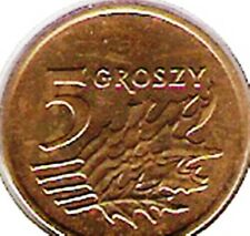 Poland 5 Five Groszy Polish Coins Polanski