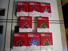 100PK  Mini Christmas Party String Tree Light Set  24.50 ft Long  Assorted Color
