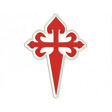 Parche Bordado CRUZ SANTIAGO. / Embroidery patch SANTIAGO CROSS.