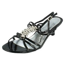 Ladies f1723 Black sandals by spot on Retail Price SALE WAS £26.99 NOW £9.99