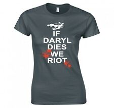 Maglia da Donna The Walking Dead con Scritta If Daryl Dies We Riot