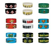 # GHOSTBUSTERS despicable me BIG BANG THEORY superman BATMAN - RUBBER WRISTBAND