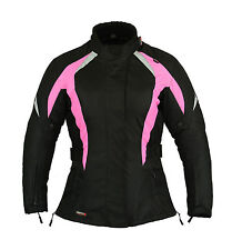 Shock Pink Ladies Motorbike Motorcycle Jacket Waterproof All sizes