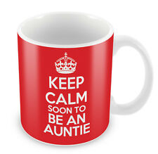 KEEP CALM Soon to Be an Auntie - Coffee Cup Gift Idea present aunt