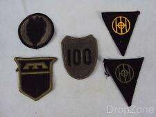 Pair of US Army Infantry Division Cloth Patch / Badge 24th, 76th, 83rd, 100th