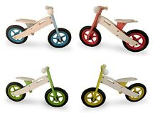 Kids Wooden Balance Running Bike First Training Cycle Boys Girls No Pedal 4 Col