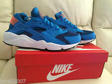NIKE AIR HUARACHE GYM BLUE UK SIZE 8.5 & 12 LIMITED EDITION NEW **LOOK**
