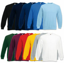 FRUIT OF THE LOOM SWEATSHIRT SET-IN HERREN PULLOVER PULLI - GR. S M L XL XXL 3XL