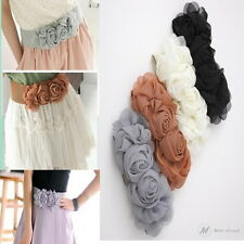 Modo Vivendi | Double Flower Cummerbund Elastic Belt Rose Decoration Eide Belt