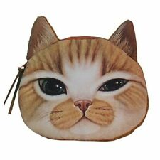 New Kitty Pussy Cat Design Zipper Coin Purse Wallet Small Makeup Bag Case