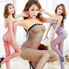 Sexy Lingerie Fishnet Bodystocking Crotchless Open Crotch Nightwear Party 244