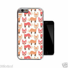 Woodland Fox Cute Girly Hard Case Clear Animal Cover For iPhone 4 4s 5 5s 5c 6