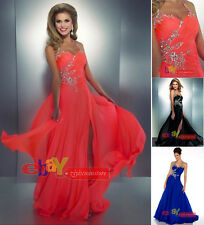 Sexy Long Chiffon Halter-Neck Evening Formal Party Wedding Prom Dress Ball Gowns