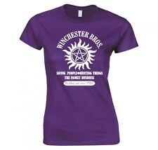 "SUPERNATURAL ""WINCHESTER BROS FAMILY BUSINESS"" LADIES T-SHIRT"