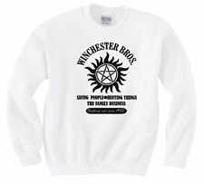 "SUPERNATURAL ""WINCHESTER BROS FAMILY BUSINESS"" SWEATSHIRT NEW"