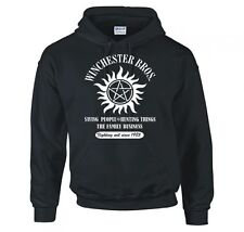 "SUPERNATURAL ""WINCHESTER BROS FAMILY BUSINESS"" HOODIE NEW"
