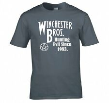 "SUPERNATURAL ""WINCHESTER BROS HUNTING EVIL SINCE 1983"" T SHIRT"