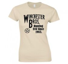 "SUPERNATURAL ""WINCHESTER BROS HUNTING EVIL SINCE 1983"" LADIES T-SHIRT"
