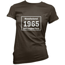 Manufactured 1965 Original Parts - Womens 50th Birthday Gift T-Shirt -11 Colours