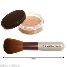 mineralshack Mate Polvo Maquillaje 6g Bote & brocha facial Set Mineral