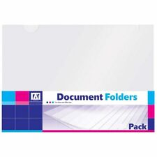 Clear Coloured Plastic Document Filing Folders Wallets Pockets - MULTI CHOICE