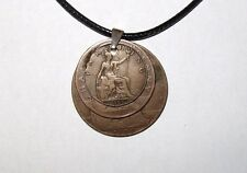 "Black British Coppers Penny, Half Penny & Farthing 17"" 43cm Necklace"